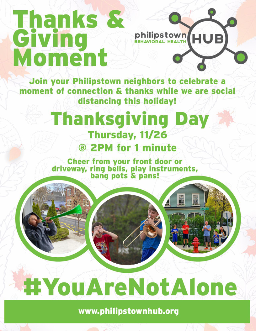 Thanks and Giving Moment- Philipstown Behavioral Health Hub