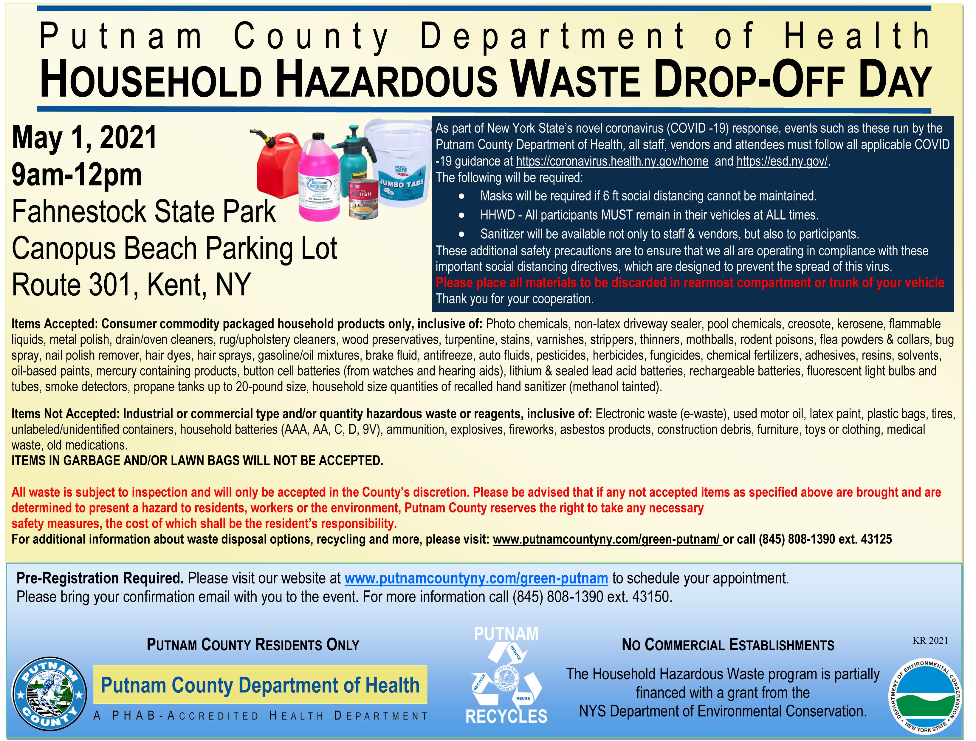 Household Hazardous Waste Drop-Off Day